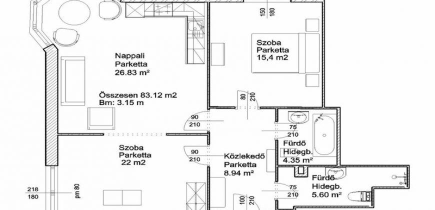 Felújított , panorámás lakás eladó Váci utcánál